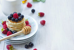 Delicious breakfast pancakes Royalty Free Stock Photography