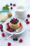 Delicious breakfast pancakes Royalty Free Stock Photos