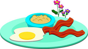 Delicious Breakfast Plate Royalty Free Stock Photo