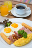 Delicious breakfast set in morning Royalty Free Stock Images
