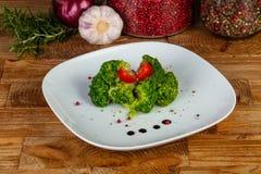 Delicious broccoli with garlic Royalty Free Stock Image