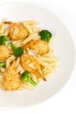 Broccoli Shrimp Pasta Stock Image