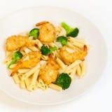 Broccoli Shrimp Pasta Stock Photo