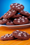 Delicious brown cookies Royalty Free Stock Images