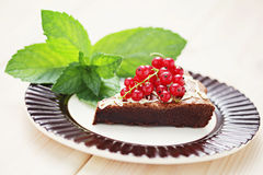 Delicious brownie Royalty Free Stock Photos
