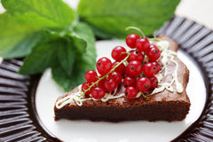 Delicious brownie Stock Images