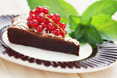 Delicious brownie Stock Photo