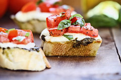 Delicious Bruschetta Appetizer Royalty Free Stock Photo