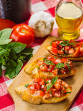 Delicious bruschetta Stock Photography