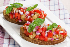 Delicious bruschetta Stock Image