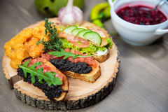 Delicious Bruschetta Royalty Free Stock Photography