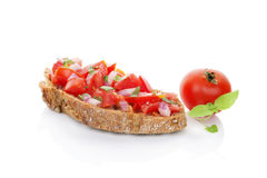 Delicious bruschetta. Royalty Free Stock Photography
