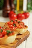 Bruschettas appetizer Royalty Free Stock Photo