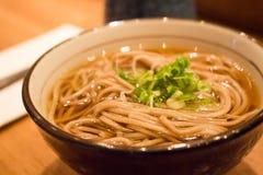 Delicious buckwheat noodles in a bowl Stock Photos