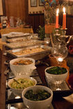 Delicious buffet table at a luxury event spread. In a restaurant Stock Images