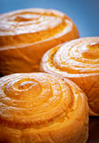 Delicious buns with fun curls Stock Photo