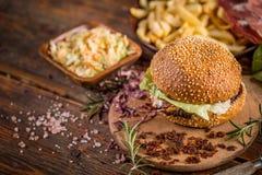 Delicious burger Stock Photos