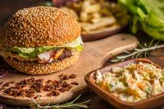Delicious burger Stock Image