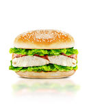 Delicious burger Stock Photography