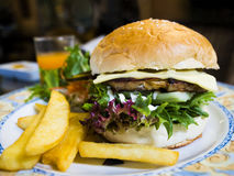 Delicious burger with chicken Stock Image