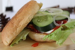 Delicious burger kebab Stock Photography
