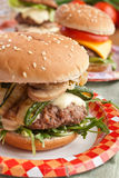 Delicious Burger with Rocket Royalty Free Stock Image