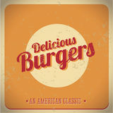 Delicious burger vintage American Classic Royalty Free Stock Photo