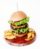 Delicious burger Stock Images