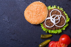Delicious burgers with beef Stock Image