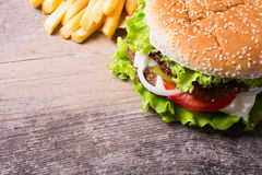 Delicious burgers with beef Stock Images