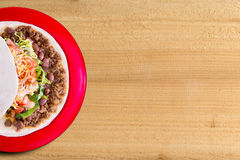 Delicious burrito with beef and salad Stock Photo