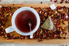 Delicious caffeine-free infusion of dried fruit, a Stock Image