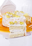 Delicious cake. Close-up cake Stock Photo