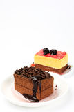 Delicious cake. There is some delicious cakes in plate,and make people want to eat it right away Stock Image