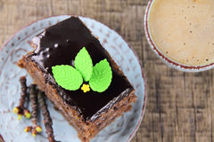 Delicious cake with the addition of bird-cherry tree powder Royalty Free Stock Photography