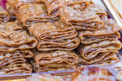 Delicious cake baklava Stock Photos