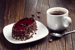 Delicious cake with chocolate and cherry jelly Stock Photography