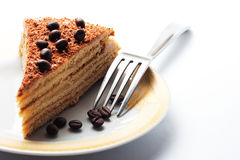 Delicious cake with coffee beans Stock Photography