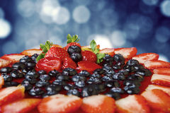 Delicious cake decorated with berries fruit Royalty Free Stock Photo
