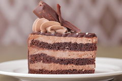 Delicious cake dessert closeup Royalty Free Stock Images