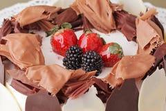 Delicious cake dessert closeup Royalty Free Stock Photos