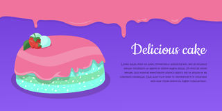 Delicious Cake. Excellent Cake. Strawberry Pie Royalty Free Stock Images