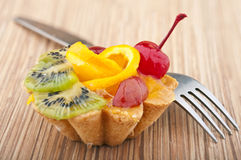 Delicious cake with fruit Royalty Free Stock Images