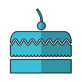 Delicious cake isolated icon Royalty Free Stock Images