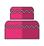 Delicious cake isolated icon Stock Images