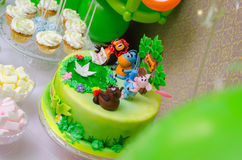 Delicious cake made for the child birthday party Stock Photo