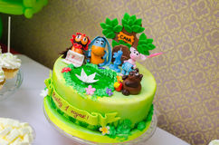 Delicious cake made for the child birthday party Royalty Free Stock Photos