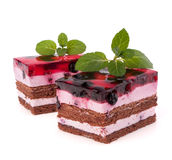 Delicious  cake piece Stock Images