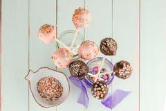 Delicious Cake pops Stock Image