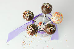 Delicious Cake pops Stock Images
